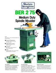 Wadkin BER 2 Spindle Moulder