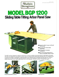 Wadkin BGP Panel Saw
