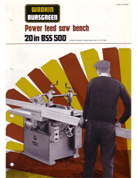 Wadkin BSS Power Feed Sawbench