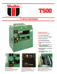 Wadkin T500 Thicknesser