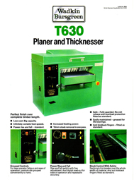 Wadkin T630 Thicknesser
